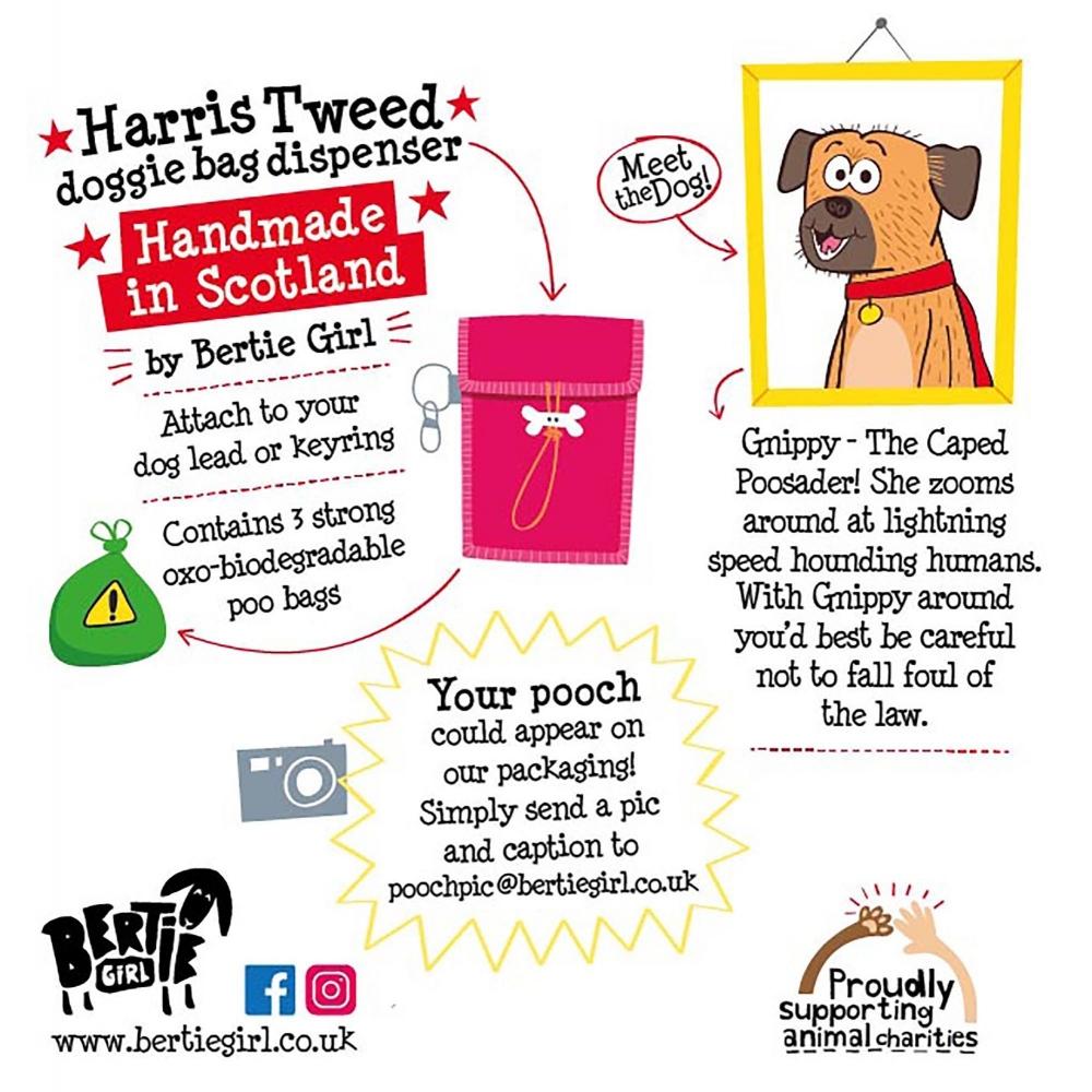 Harris Tweed Doggy Bag Dispenser by Bertie Girl - Ka-Poo