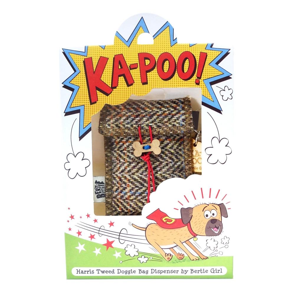 Hamish Harris Tweed Doggy Bag Dispenser by Bertie Girl - Ka-Poo