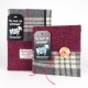 Grey Check and Red Herringbone A5 and Square Harris Tweed Notebooks