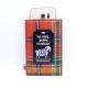 Orange Check Harris Tweed Mobile Phone Sleeve - Aye Phone Sporran Technology